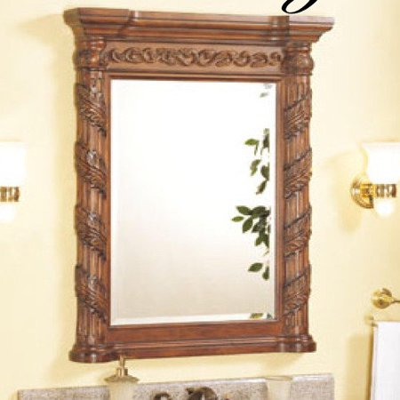 Empire industries tuscany bathroom vanity mirror for Better homes and gardens baroque wall mirror black
