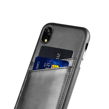 Cobble Pro iPhone XR Wallet Case Leather Phone Card Wallet Pouch Case Cover For Apple iPhone XR, Black - image 4 of 9