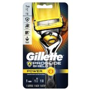 Gillette ProGlide Shield Power Mens Razor Handle and 1 Blade Refill