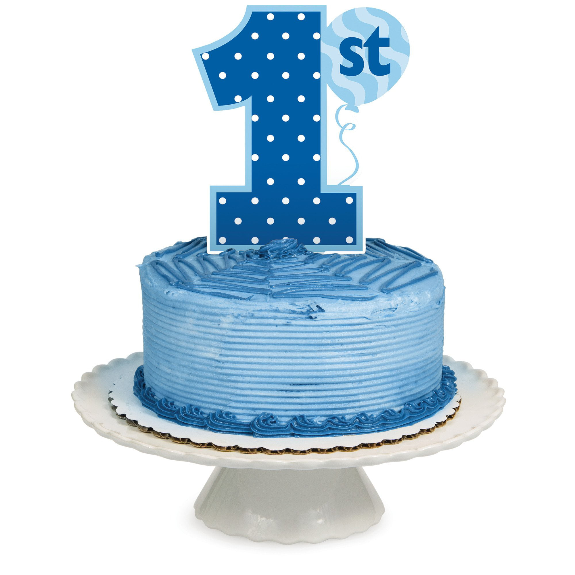 "Creative Converting ""1St Birthday Boy"" Cake Topper, Blue"