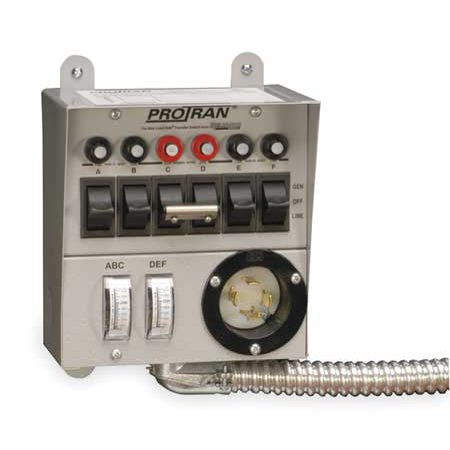 RELIANCE 30216A Manual Transfer Switch,60A,125/250V ()
