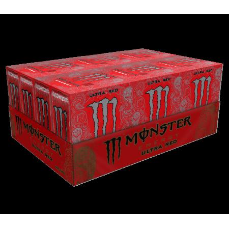 (24 Cans) Monster Energy Drink, Ultra Red, 16 Fl (Monster Energy Kawasaki)