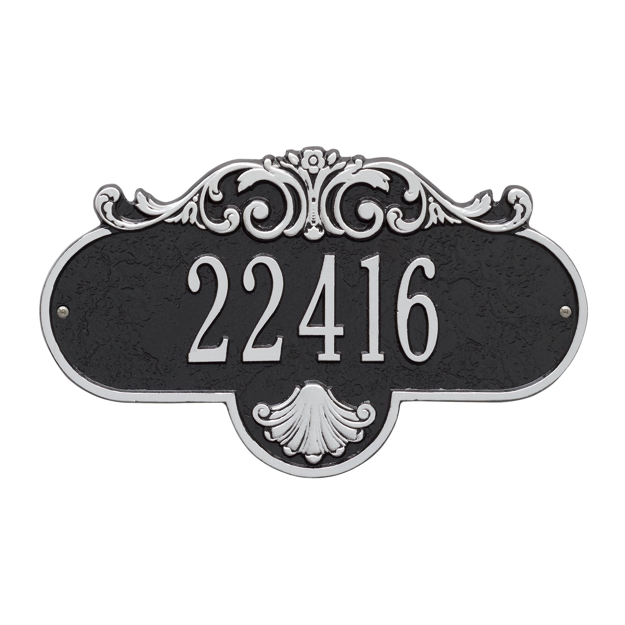Personalized Whitehall Products Standard One-Line Rochelle Wall Plaque in Black/White