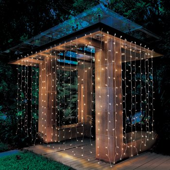 Better Homes & Gardens 16ft (8ftx2) LED Micro Curtain Light Set