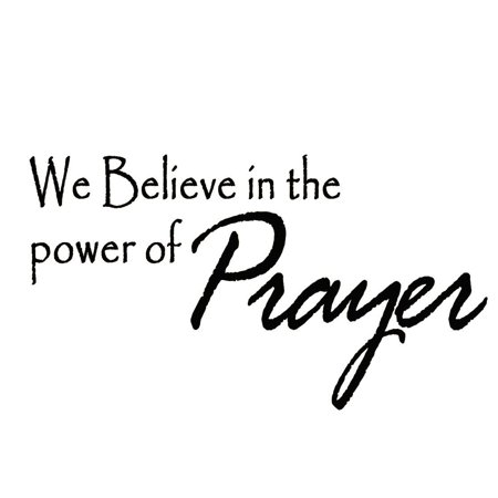 VWAQ We Believe in the Power of Prayer Wall Decal Religious Quote Vinyl Wall Art Home Decor Letters