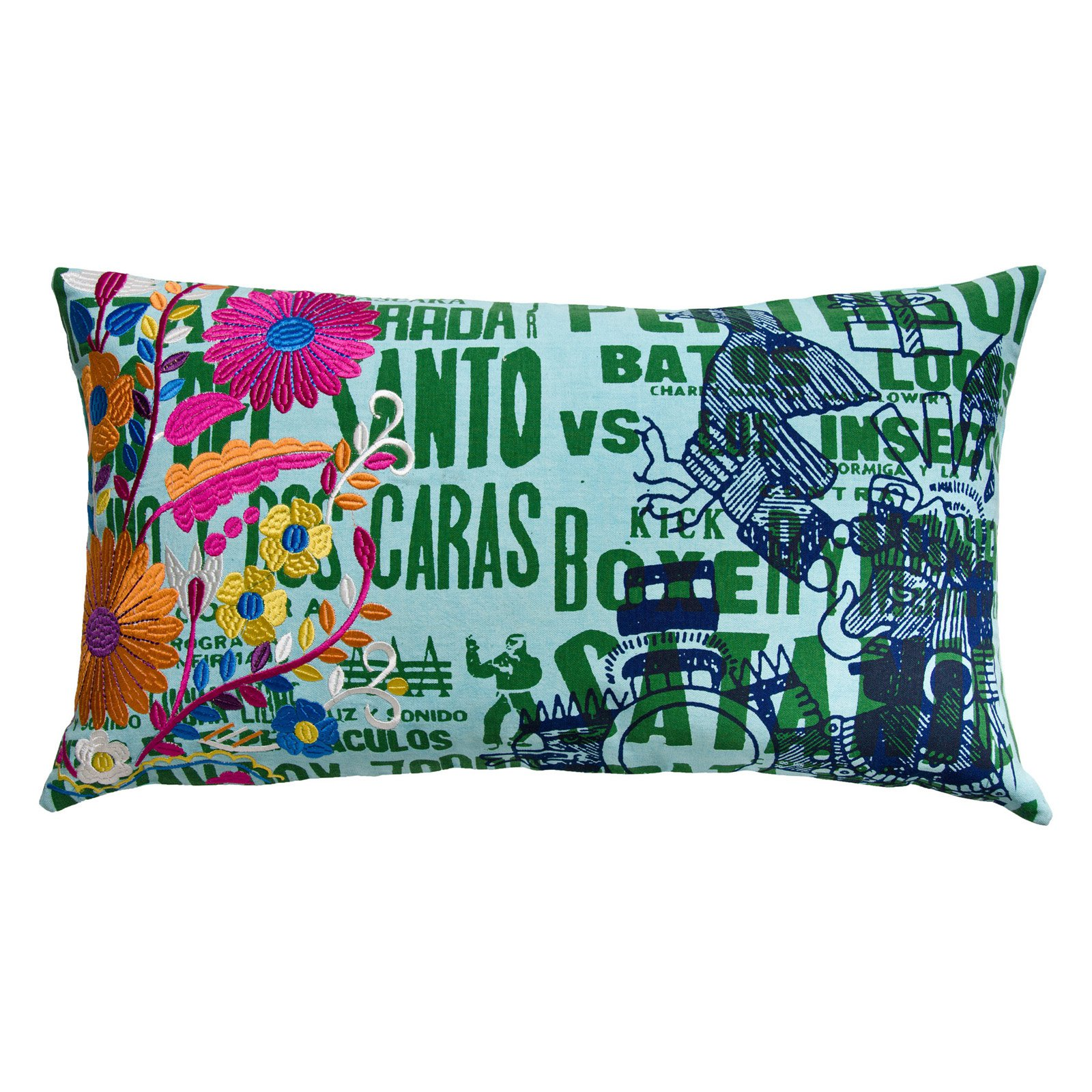 Koko Company 27 in. Mexico Oblong Pillow - Eagle