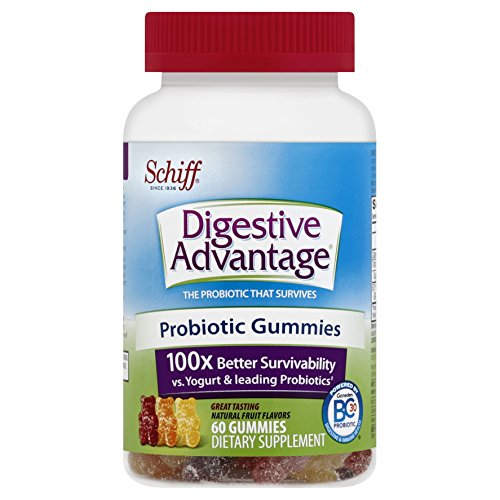 2 Pack Schiff Digestive Advantage Probiotic Dietary Supplement 80 Gummies Each
