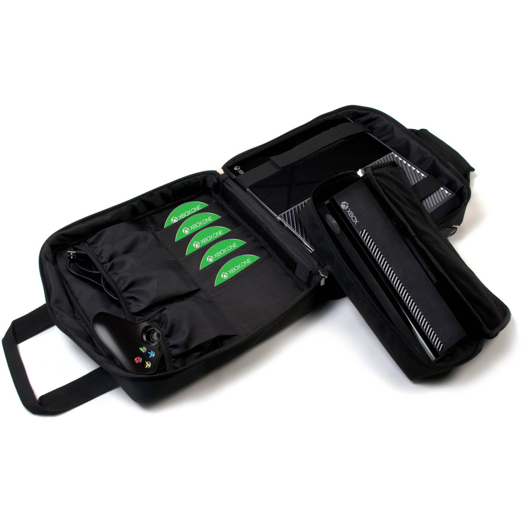 CTA Digital Xb1-mfc Multi-Function Carry Case for Xbox One/Xbox 360/Xbox Slim and Xbox Kinect