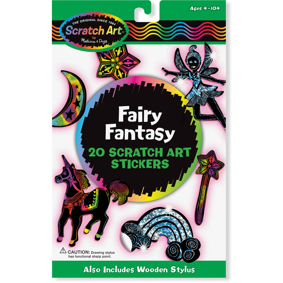 Melissa & Doug Fairy Fantasy Scratch Art Stickers, 3344