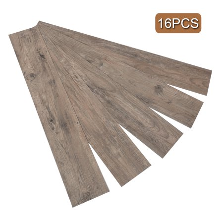 16 PCS/24 Square Feet Adhesive Floor Tiles Vinyl Floor Planks 2.0mm Thick Antique Wide Plank Floors