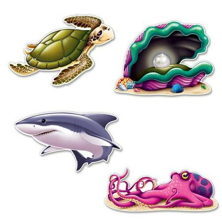 The Beistle Company Under The Sea Creature Cutouts Wall D (Company Sea Glass)