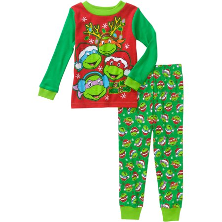 teenage mutant ninja turtles little boys christmas pajama sleepwear set - Walmart Christmas Pajamas