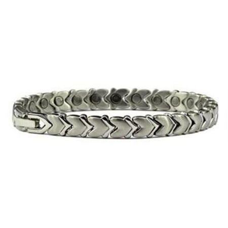 Silver Plated Cupid's Guide - Pure Titanium Magnetic Therapy Bracelet