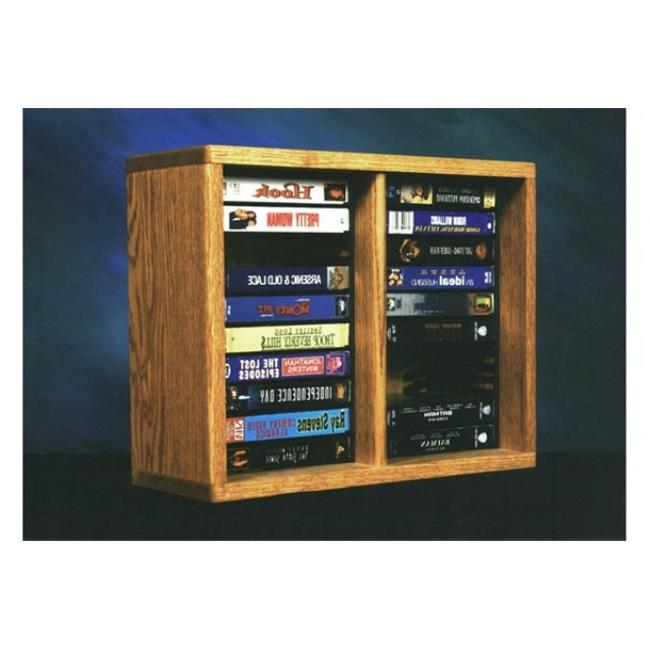 Wood Shed 210-1 DVD Solid Oak desktop or shelf DVD Cabinet - Individual Locking Slots