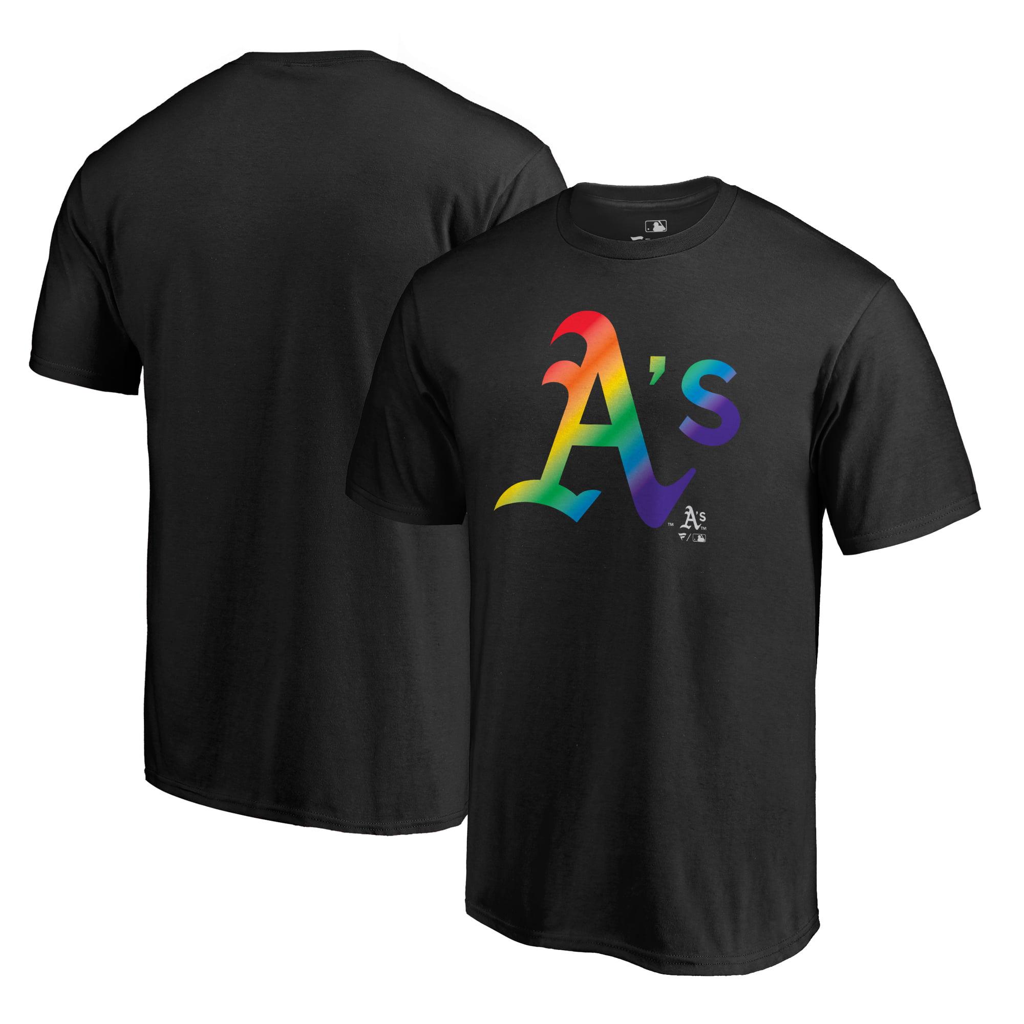 Oakland Athletics Fanatics Branded Pride T-Shirt - Black