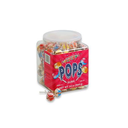 Ring Pops In Bulk (Smarties Pops, Jar, Wrapped, 34 Oz, 120)