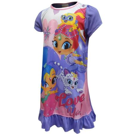 Night Shimmy (Nick Jr Shimmer And Shine Love Ya! Nightgown )