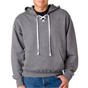 Weatherproof 7476 Adult Hockey Hooded Sweatshirt - Graphite, Large