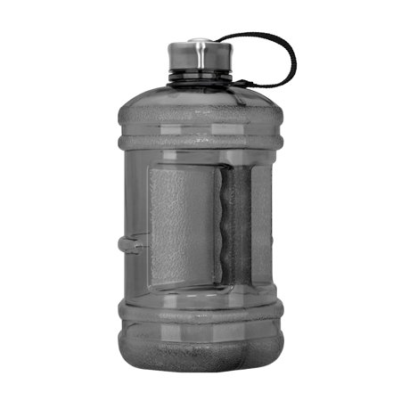 Liter Water Bottle - 2.3 Liter BPA Free Reusable Plastic Drinking Water Bottle w/ Steel Cap
