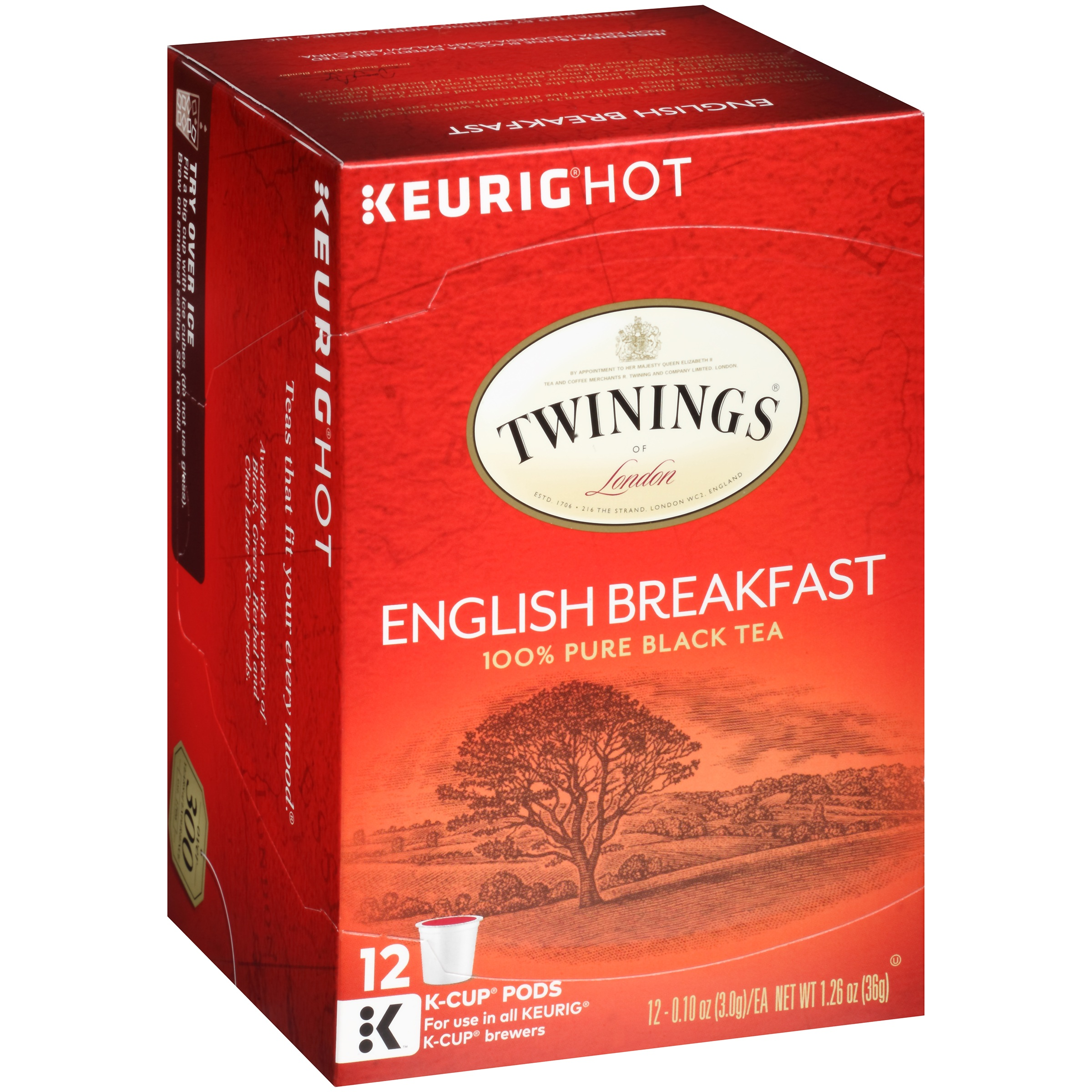 (2 Boxes) Twinings of London English Breakfast Tea Pods, 12 Ct, 1.26 oz. Box