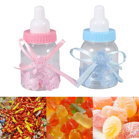 12Pcs Candy Chocolate Bottles Box For Girl Boy Baby Shower Party Favors Gifts Decorations,Candy Gift Bottle,Gift Favor - Boy Baby Shower Candy