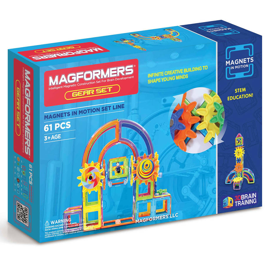 Magformers Magnets in Motion 61-Piece Magnetic Construction Gear Set by Magformers