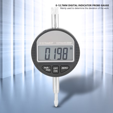 Yosoo Indicator Gauge,Digital Probe Indicator Gauge 0-12.7mm/0.5'' Clock DTI 0.01mm/0.0005'' Test,Probe Indicator Gauge - image 9 of 9