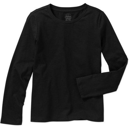 aca5a32bf193 Faded Glory - Girls' Long Sleeve Crew Neck T-Shirt - Walmart.com