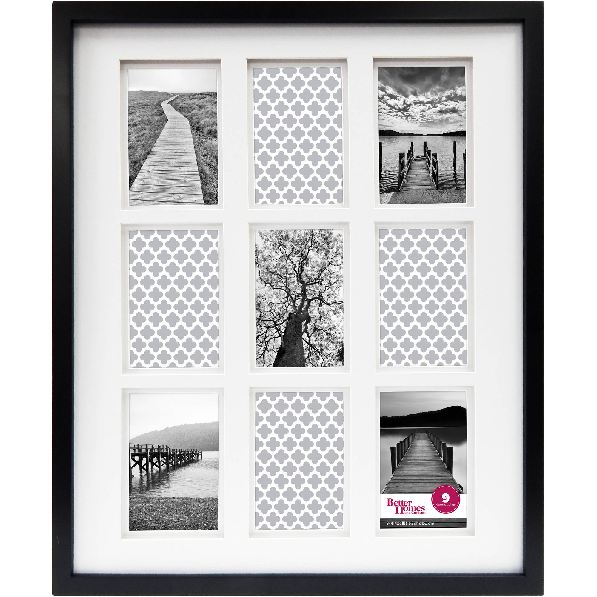 Better Homes & Gardens 9-Opening Thin Gallery Frame, Black