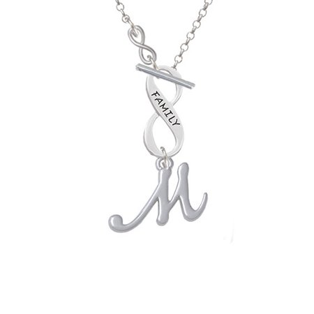 9eeae1c0b1e Delight Jewelry - Small Gelato Script Initial - M - To Infinity Family  Toggle Necklace - Walmart.com