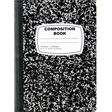 DDI 1276253 Black Composition Notebook - 100 Sheets Case of 48 - Composition Notebooks