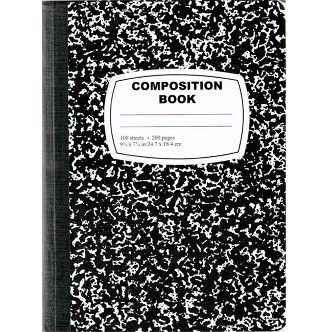 DDI 1276253 Black Composition Notebook - 100 Sheets Case of 48