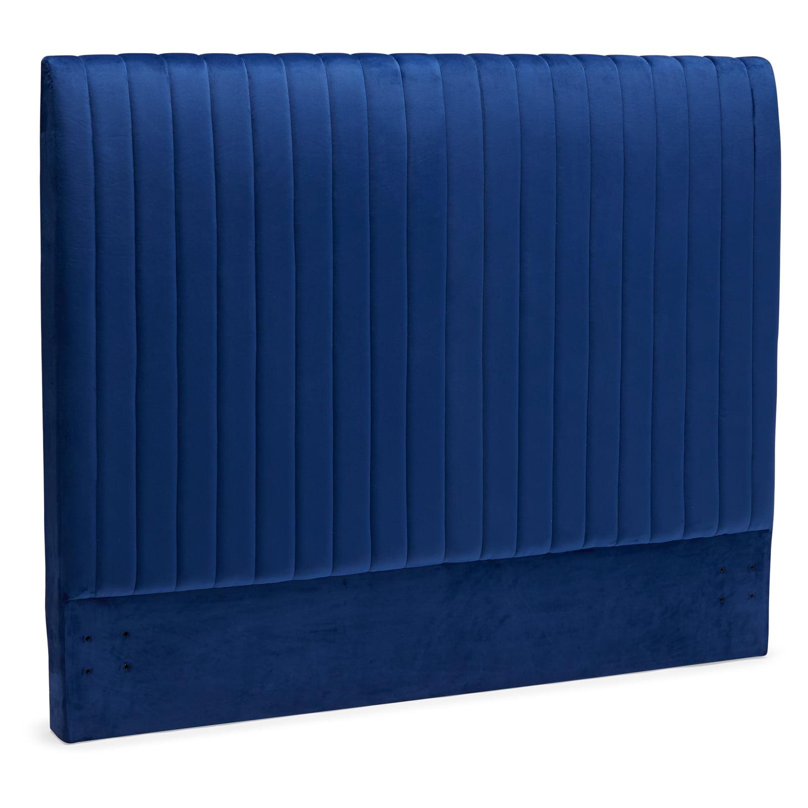Modrn Marni Channel Tufted Headboard Full Queen Dark Blue Walmart Com Walmart Com