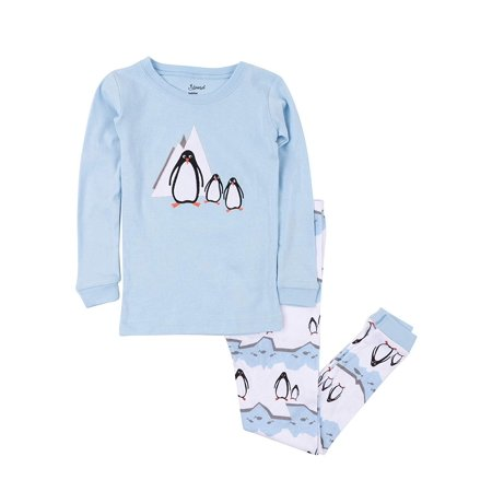 Leveret Kids & Toddler Pajamas Boys Christmas 2 Piece Pjs Set 100% Cotton (Penguin, Size 12-18 Months) (Valentines Pjs)