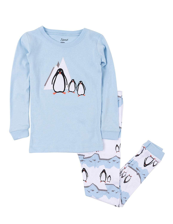 Leveret Kids & Toddler Pajamas Boys Christmas 2 Piece Pjs Set 100% Cotton (Penguin, Size 12-18 Months)