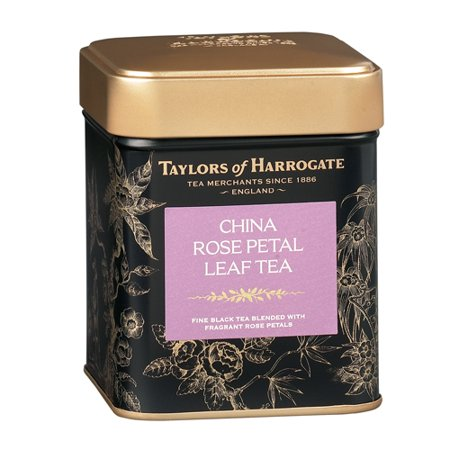 Taylors of Harrogate Chine Rose Petal Leaf Tea Tin, 4,4 Oz