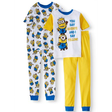Boys' Minions 4-Piece Pajama Sleep Set