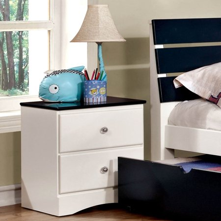 Furniture of America Piers Transitional 2-tone White 2-drawer Youth Nightstand by FOA ()
