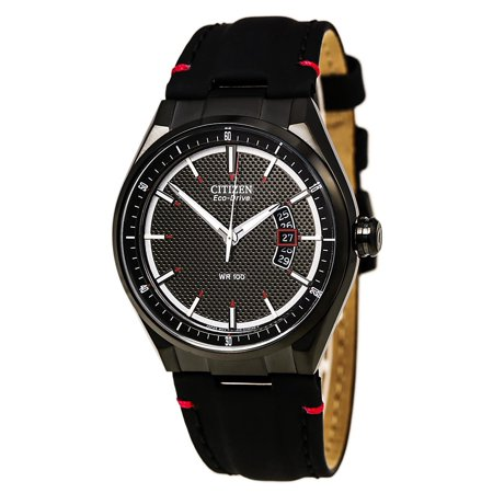 Citizen Men's Stainless Steel Eco Drive with a Leather Strap Eco Drive Leather Strap