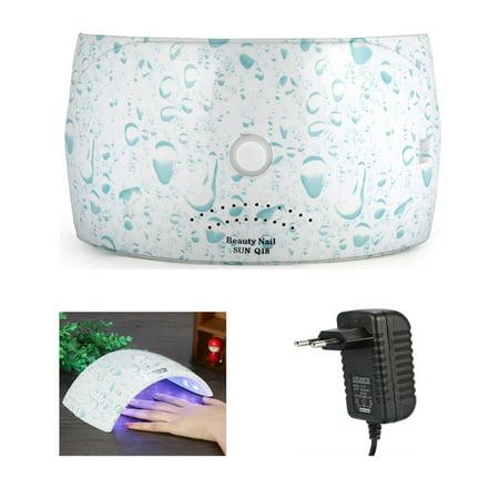 WALFRONT Nail Dryer, 36W Sensor Manicure Light Lamp 18 LEDs Gel Polish Curing Lamp - image 1 de 4