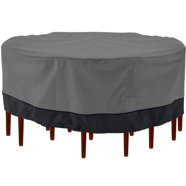 Outdoor Patio Furniture Table And Chairs Cover 94 Diameter Dark