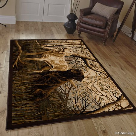 Allstar African Contours Collection Dogs Area Rug 7 7 Quot X