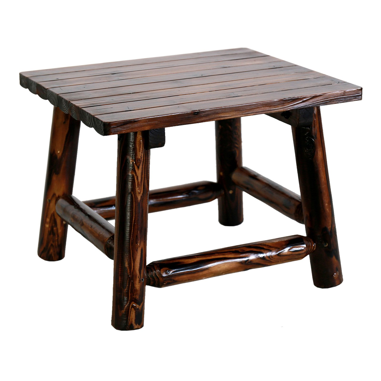 Leigh Country Char-log Rectangle Patio End Table