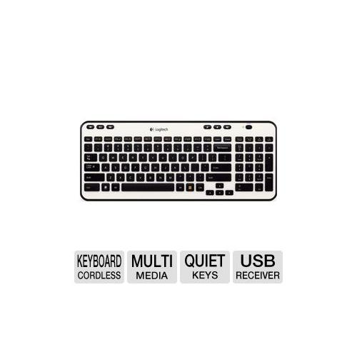 Logitech 920-003365 K360 Wireless Keyboard - 2.4 GHz, 12 Programmable F-Keys, Plug-and-Play, 6 Hot Keys, Adjustable-Tilt