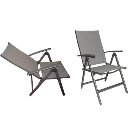 wasatch deluxe reclining high back patio chairs set of 2 walmart com