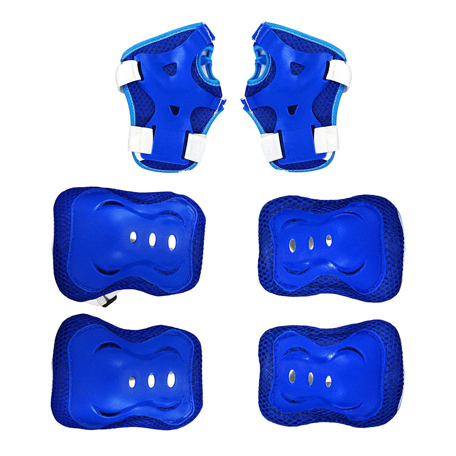 Kids Protective Gear Set Knee Pads Elbow Pads Wrist Guards For Skateboarding Roller Skates Cycling Rollerblade BMX Bike... by