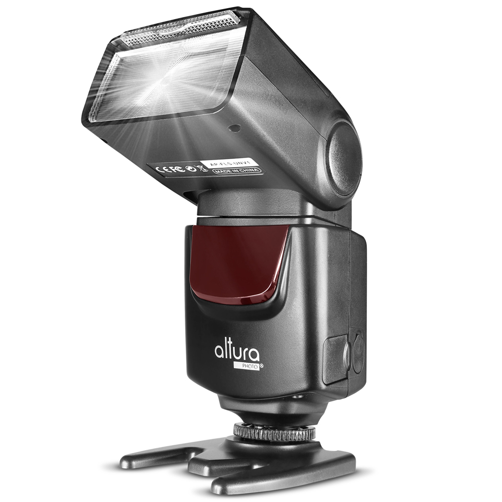 Altura Photo AP-UNV1 Speedlite Flash for DSLR Cameras with a Standard Hot Shoe Mount
