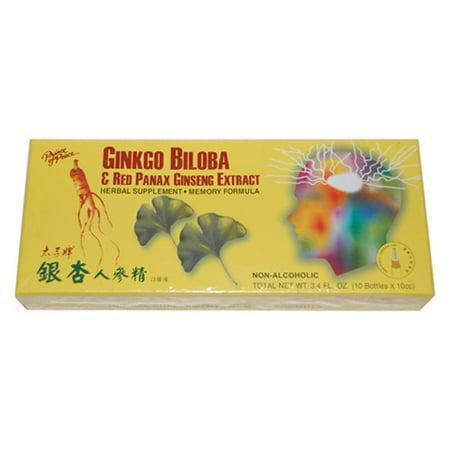 Prince Of Peace Ginkgo biloba et rouge Panax extrait de ginseng, Formule mémoire - 10 Ea