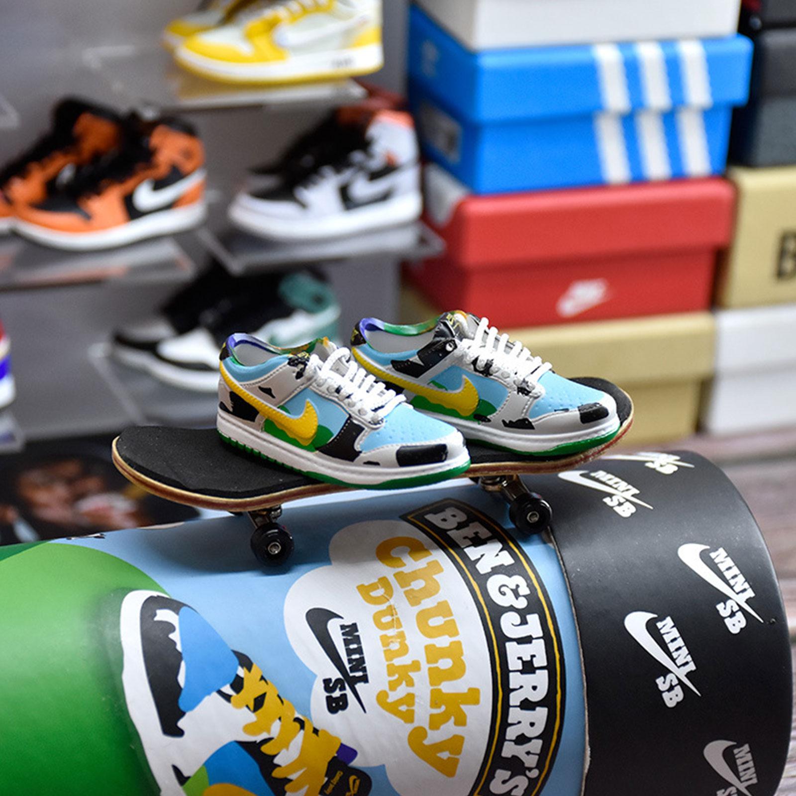 FEAMOS 【Limited Time Sale】Mini NlKE Shoes Finger Skateboard Set ...