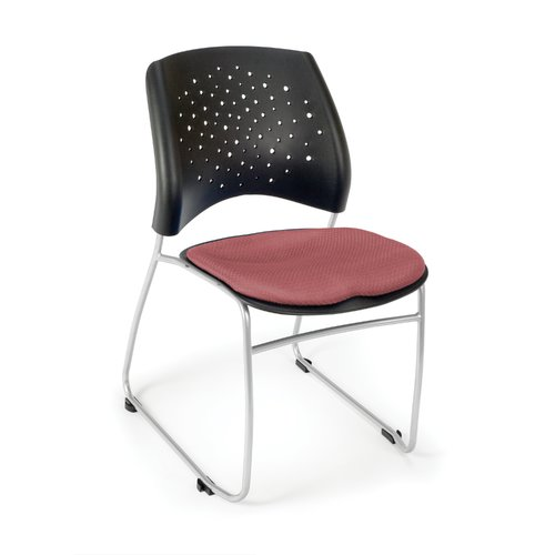 OFM Stars Series Model 325 Fabric Stack Chair, Coral Pink